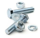Screw bolts and nuts Royalty Free Stock Photos
