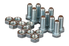Screw bolts and nuts Stock Images