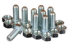Screw bolts and nuts Stock Photography
