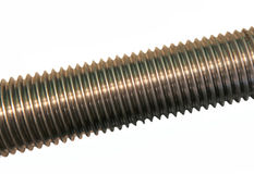 Screw with a carving Royalty Free Stock Photography