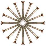 Screw circle Stock Image