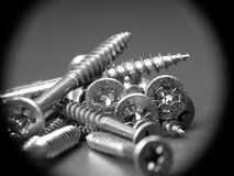 Screw close-up Stock Photo