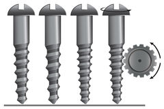 Screw with cogwheel  illustration Royalty Free Stock Photo
