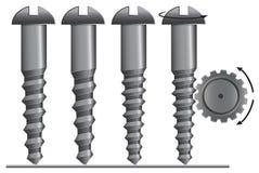 Screw with cogwheel  illustration. Eps 8 Royalty Free Stock Photo