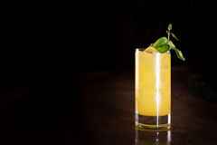 Screw driver cocktail with fresh mint Stock Images