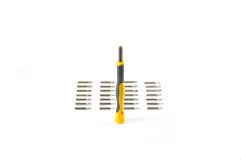 Screw Driver Kit. Screwdriver kit  on white Stock Photos