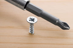 Screw-driver and screw Royalty Free Stock Photo
