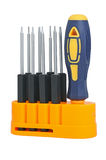 Screw-drivers. Set of screw-drivers for special works royalty free stock image