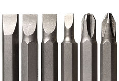 Free Screw-drivers In Line Isolated Royalty Free Stock Photo - 12626265