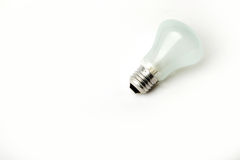 Fitting Light bulb on a white background Royalty Free Stock Image