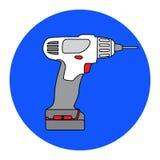 Screw Gun Icon. Impact wrench or screwgun. Electric screwdriver symbol Royalty Free Stock Photography