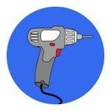Screw Gun Icon. Impact wrench or screwgun. Electric screwdriver symbol Stock Photography