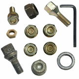 Screw heads, bolts, wheels screw, tools isolated Royalty Free Stock Photos