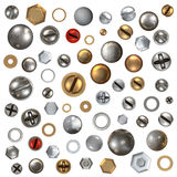 Screw heads set Stock Images