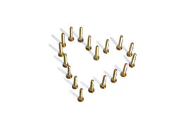Screw heart Royalty Free Stock Photos