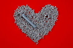 Screw heart Stock Photos