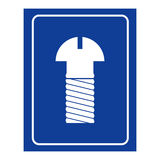 mens room icon. Logo for WC men Royalty Free Stock Image