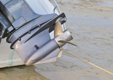 Screw motor boat Stock Image