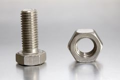 Screw and nut Royalty Free Stock Photos