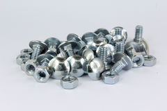 Screw and nut Stock Photo