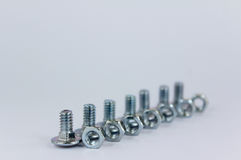 Screw and nut Royalty Free Stock Images