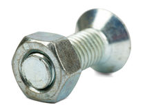 Screw with nut Royalty Free Stock Photography