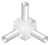 Screw-nut, isometric projection, engineering graph Stock Images