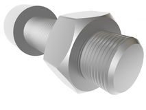 Screw and nut. Render. Royalty Free Stock Image
