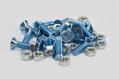 Screw and nuts Stock Image