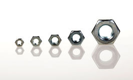 Free Screw-nuts In A Row Royalty Free Stock Photos - 16210038