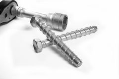 Screw and nuts. Industrial object. Stock Images