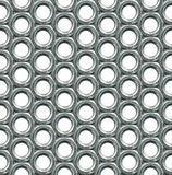 Screw nuts seamless background Royalty Free Stock Images