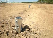 Pile in Ground Solarfarm Royalty Free Stock Photo