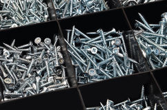 Screw in plastic organizer box Royalty Free Stock Images