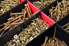 Screw in plastic organizer box Stock Photo