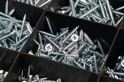 Screw in plastic organizer box Stock Image