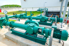 Screw pump fore drainage water. In power plant Stock Images