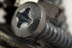 Screw rusty star Stock Images