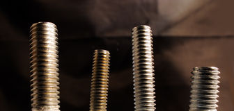 Screw-on a screw Royalty Free Stock Photography