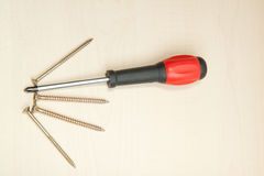 Screw and screw-driver Royalty Free Stock Photo
