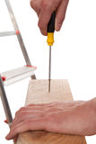 Screw and screwdriver Stock Images