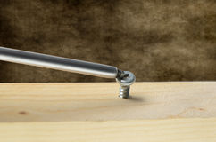 Screw and Screwdriver Stock Photo