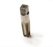 Screw Tap. A photo of screw tap isolated on the white background Stock Photos