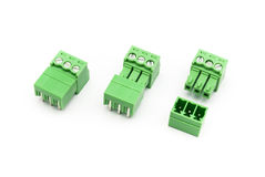 Screw Terminal Block Connector Pairs.  Royalty Free Stock Photography