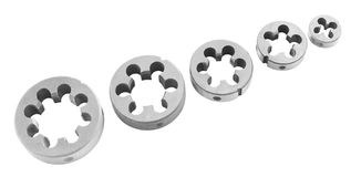 Screw thread dies Stock Images
