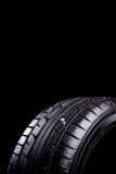 In tire. Car tires during service in the workshop stock photo