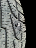 Screw in tire Royalty Free Stock Photography