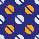 Screw up seamless pattern. Strict line geometric pattern for your design Royalty Free Stock Photography