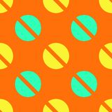 Screw up seamless pattern. Strict line geometric pattern for your design Stock Photo