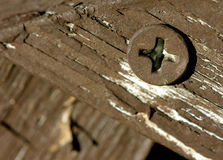 Screw on Wood Stock Photography
